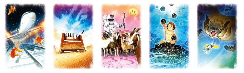 5 card artwork sample